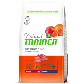 Natural Trainer Medium Adult Beef & Rice 3kg