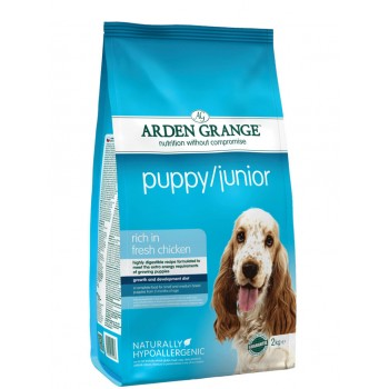 ARDEN GRANGE puppy/junior rich in fresh chicken 2 ή 12kg
