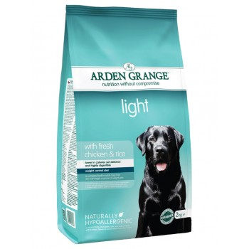 ARDEN GRANGE light fresh chicken and rice 2kg / 12kg