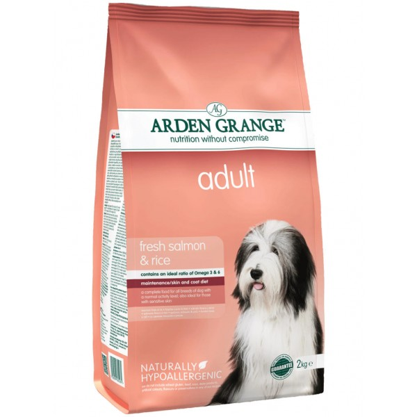 ARDEN GRANGE adult fresh salmon and rice 2kg /12kg